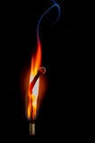 Brennendes Match, Kultur, Geistigkeit, Spritzen, Bewegung, Aktion, Religion, Muster, abstrakt Lizenzfreie Stockbilder