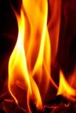 Brennendes paiper. Feuer. Flamme Lizenzfreie Stockfotos