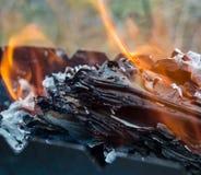 Brennendes Papier Stockbilder