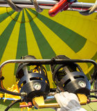 Brenner auf Heißluft-Ballon Stockbild
