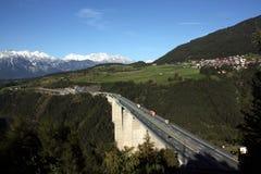 Brenner Datenbahn, Österreich lizenzfreies stockbild