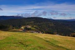 Brennes, Großer Arber (German for Great Arber) is the highest peak of the Bavarian-Bohemian-mountain ridge, Germany Stock Image