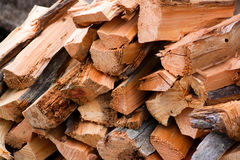Brennholz Stockfoto