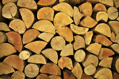 Brennholz für Winter Lizenzfreies Stockbild