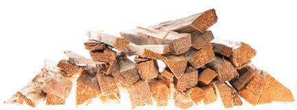 Brennholz lokalisiert auf Weiß Lizenzfreie Stockfotos