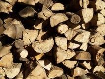 Brennholz-Makro Stockfotografie