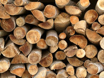 Brennholz meldet einen Stapel an Lizenzfreies Stockfoto