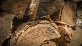 Brennholz Woodgrain-Nahaufnahme Stockfoto