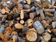 Brennholz zu Hause Stockfotos