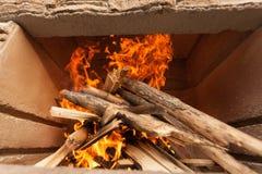 Brennholzdetail Lizenzfreies Stockbild