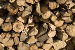 Brennholzhiebe Lizenzfreie Stockfotos