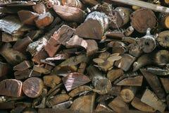 Brennholzholz Lizenzfreies Stockfoto