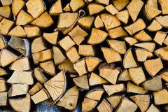 Brennholzklotzlüge Stockfotografie