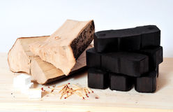 Brennholzkraftstoffenergie Lizenzfreies Stockfoto