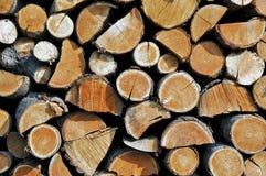 Brennholzstapel Stockfoto