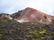 Brennisteinsalda, Landmannalaugar, montanhas de Islândia Imagem de Stock