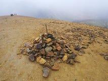 Brennisteinsalda, una montagna nella regione di Landmannalaugar, Islanda del sud immagini stock libere da diritti