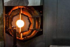 Brennofen-Ofen für Glasblasen lizenzfreies stockfoto