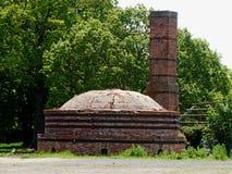 Brennofen und Kamin, alte Hoxne-Maurerarbeiten stockbild