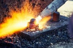 Brennschneiden Stockbild