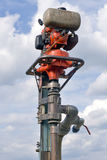Brennstoff angetriebene Bohrmaschine Stockfoto