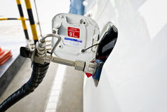 Brennstoff herauf Gas Lizenzfreie Stockfotos
