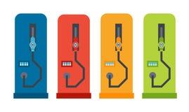 Brennstoffaufnahmestandillustration des Vektorplattformwagens Lizenzfreie Stockbilder