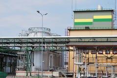Brennstofffabrik Stockbilder
