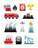 Brennstoffikonen stock abbildung