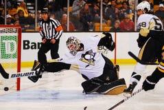 Brent Johnson Pittsburgh Penquins. Pittsburgh Penguins goalie Brent Johnson #1 Royalty Free Stock Photos