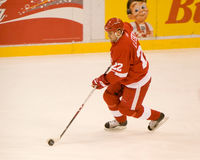 Brent Lebda of the Detroit Red Wings Royalty Free Stock Photo