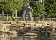 `Brent`s Arch` by Harry Gordon, Hall Park, Frisco, Texas stock photos