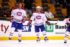 Brent Sopel and David Deshamais Montreal Canadiens Royalty Free Stock Photography