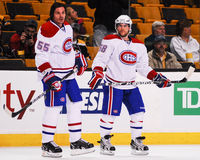 Brent Sopel and David Desharnais, Montreal Canadiens Stock Photography