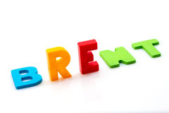 Brent. Word on a white background Royalty Free Stock Photo