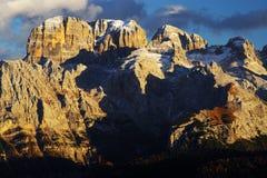 Brenta白云岩在美好的秋天天 免版税图库摄影