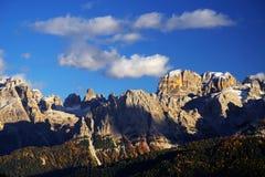 Brenta白云岩在美好的秋天天 图库摄影