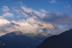 Brenta白云岩在阿尔卑斯 免版税库存照片