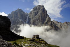 Brenta Dolomites #3. A rock peak in Brenta dolomites, around Madonna di Campiglio stock photography