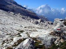 Brenta Dolomites mountain views in the area of ??Alfredo Sentier Stock Photography