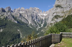 Brenta Dolomites with view point, Alto Adige, Italy Royalty Free Stock Photography