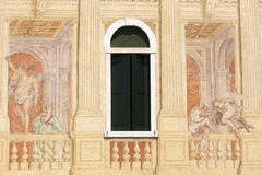 Brenta (Veneto, Italy):  Historic villa, paintings Stock Image