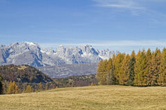 Brenta view from  Monte Bondone Royalty Free Stock Photography