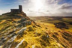 Brentor, национальный парк Dartmoor, Девон Стоковые Изображения RF