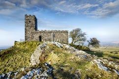 Brentor kościół w Dartmoor zdjęcia royalty free