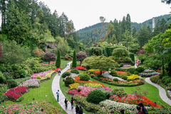 BRENTWOOD BAY, VANCOUVER ISLAND/CANADA - AUGUST 11 : Butchart Ga royalty free stock photos