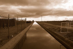 Brentwood Canal. Brentwood Irrigation Canal at Dawn Stock Image