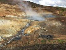 Brenzlige Stellen Island Vulcanic Stockbilder