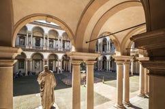 Brera宫殿在米兰,意大利 免版税库存图片