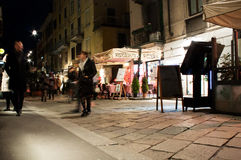 Brera,米兰,意大利街道场面  图库摄影